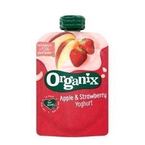 Organix Yoghurt, Æble & Jordbær Ø - 100 G