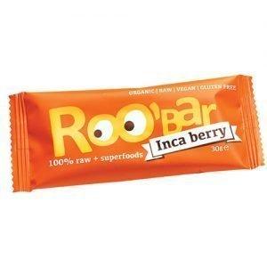 ROO bar Bar Med Inca Bær Ø Roobar 100% Raw - 30 G