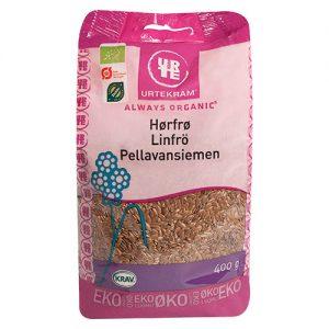 Urtekram Hørfrø brune Ø - 400 G