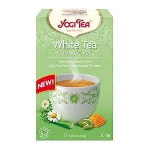 Yogi Te White Tea Ø M. Aloe Vera - 17 Påse
