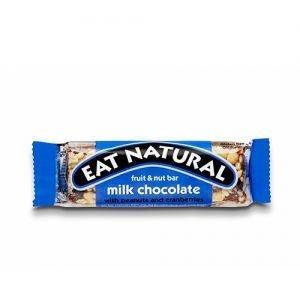 Eat Natural Bar M. Mælkechokolade Med Peanuts Og Tranebær - 45 G