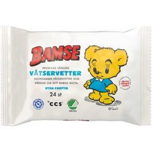 Bamse Brummas Vänliga Våtservetter 24 st
