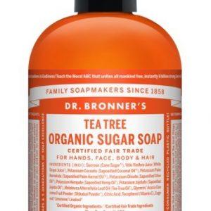 Dr. Bronner's Organic Sugar Soap Teatree (355ml)
