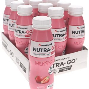 Nutra-Go Milkshake Jordgubb 12-pack - 44% rabatt