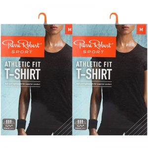 "T-shirt ""Athletic Fit Black Melange"" Medium 2-pack - 70% rabatt"