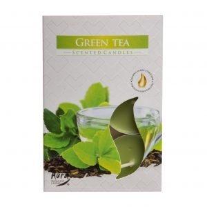 Värmeljus med doft av grönt te