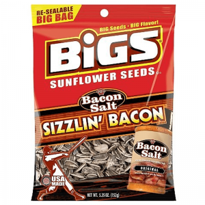 BIGS Sunflower Seeds - J&D's Sizzlin Bacon Salt 152g