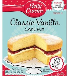 Betty Crocker Velvety Vanilla Cake Mix EU 425g