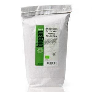 Biogan Rismjöl Fullkorn Glutenfritt Ekologiskt - 1 Kg