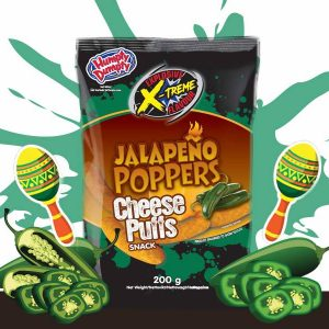 DD Jalapeno Poppers Cheese Puffs 200g