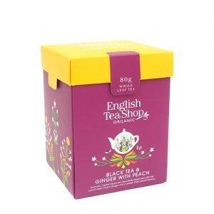 English Tea Shop Black Tea & Ginger With Peach Ø - 80 G