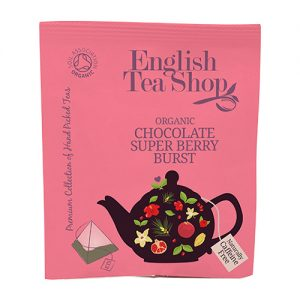 English Tea Shop Chocolate Super Berry Burst Ø Tea - 50 Breve - 1 Förp