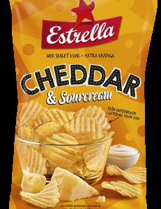 Estrella Cheddar & Sourcream 175g