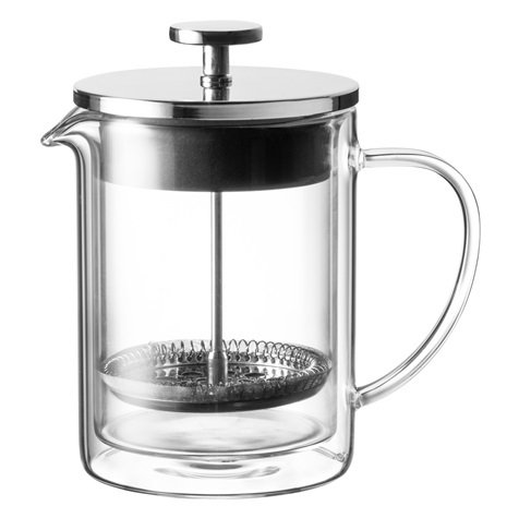 French press glass/steel 600 ml