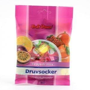 Fruit power Druvsocker tabl tropisk mix påse75g