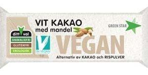 Green Star Vegan Vit Kakao med Mandel 40g