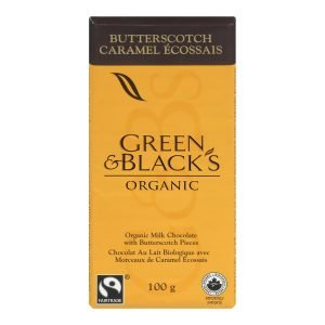 Green & Blacks Milk Chocolate Butterscotch Bar 100G