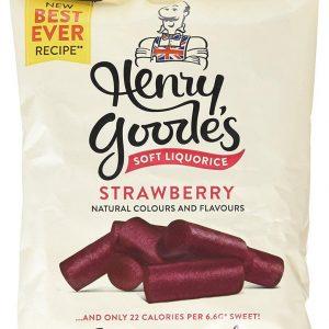 Henry Goodes Soft Eating Strawberry Liquorice 200g