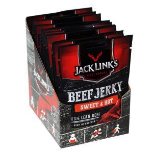 Jack Links Beef Jerky 25g Sweet & Hot x 12