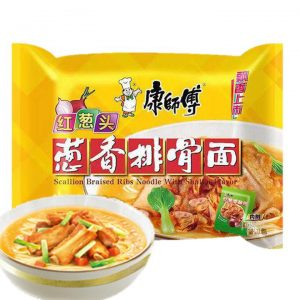 Kang shi fu Scallion Braised Ribs Instant Noodles with Shallot Flavor 107g