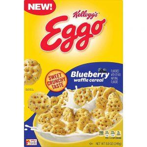 Kelloggs Eggo Blueberry Waffle Cereal 249g