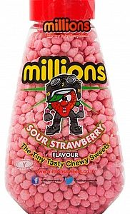 Millions Gift Jar Sour Strawberry 227g