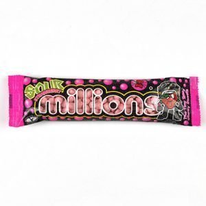Millions Sour Strawberry Tubes 40g