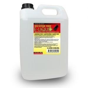 Nikotinfri E-juice Lakritsstång 5 liter