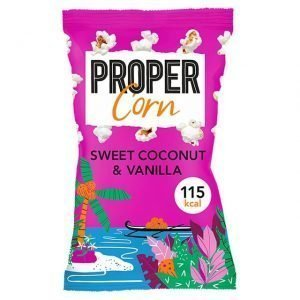 PROPERCORN Sweet Coconut & Vanilla Popcorn 90g