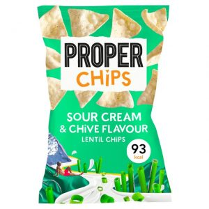 Proper Lentil Chips Sour Cream And Chive 85g