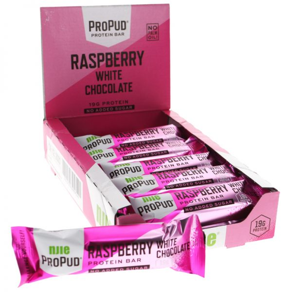 Proteinbars Hallon & Vit Choklad 12-pack - 45% rabatt