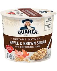 Quaker Instant Oatmeal Maple & Brown Sugar Cup 48g