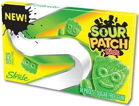 Stride Sour Patch Kids Lime Chewing Gum