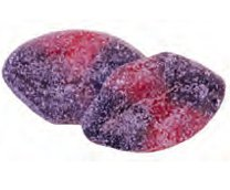 Sura läppar hallon/lakrits 2.2kg