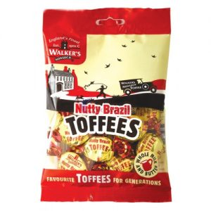 Walkers Nutty Brazil Toffees Bag 150g
