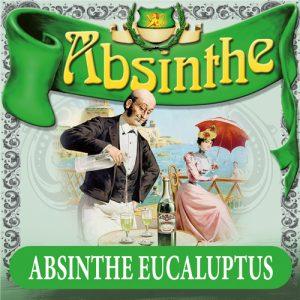 Absintetikett för Absint Eukalyptus 90 x 90 mm