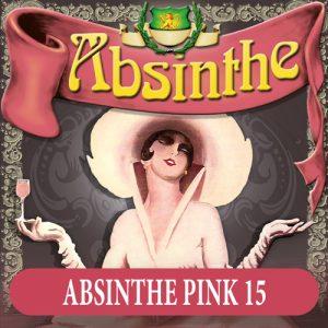 Absintetikett för Absint Ladies 15 90 x 90 mm