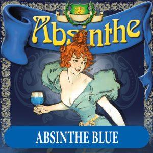 Absintetikett för Absint Mint 90 x 90 mm
