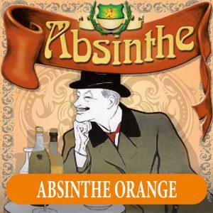 Absintetikett för Absint Orange 90 x 90 mm