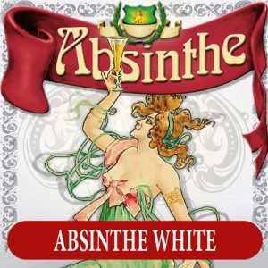 Absintetikett för Absint Vit 90 x 90 mm