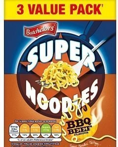 Batchelors Super Noodles BBQ Beef 3-pack 270g