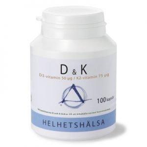 D & K, D3 50 μg /K2 75 μg 100 k