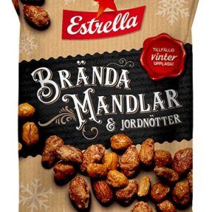 Estrella Brända Mandlar & Jordnötter 120g