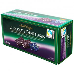 Maitre Truffout Chocolate Thins Cassis 200g
