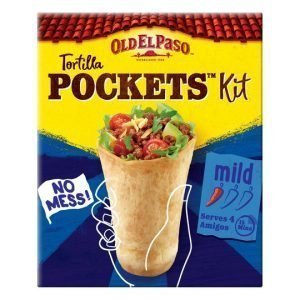 Old El Paso Tortilla Pockets Kit Mild 375g