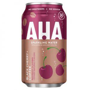 AHA Black Cherry Coffee Sparkling Water 355ml