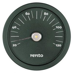 Bastutermometer aluminium grön