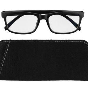 Läsglasögon för män Matt svart Blue Block +2,0