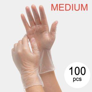 Vinylhandskar för Engångsbruk EGV-01 Storlek MEDIUM (100 St) / 50Par