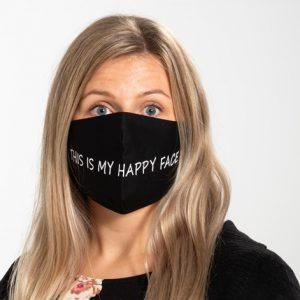 Ansiktsmask av tyg, Happy face, 1 st